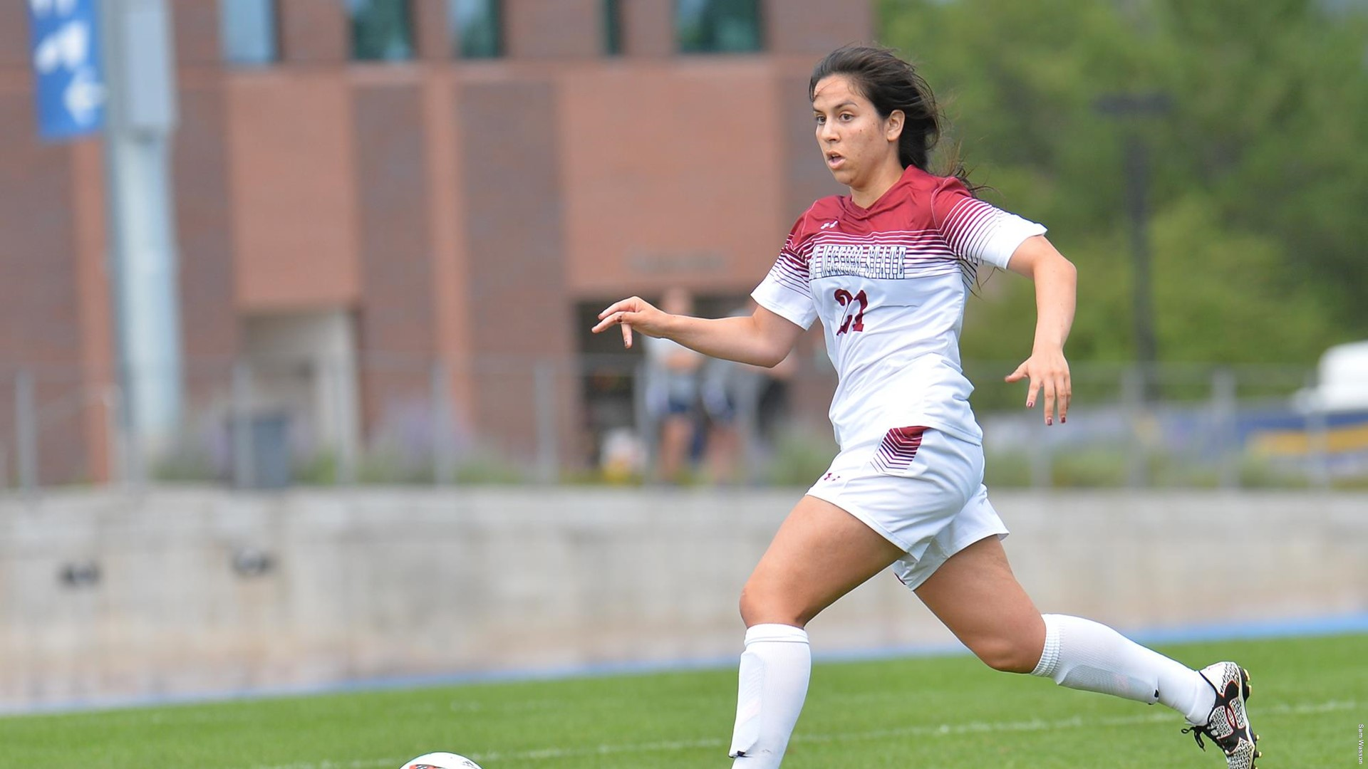 Holly Abdelkader, who scored the first goal of the season for the Lady Aggies.