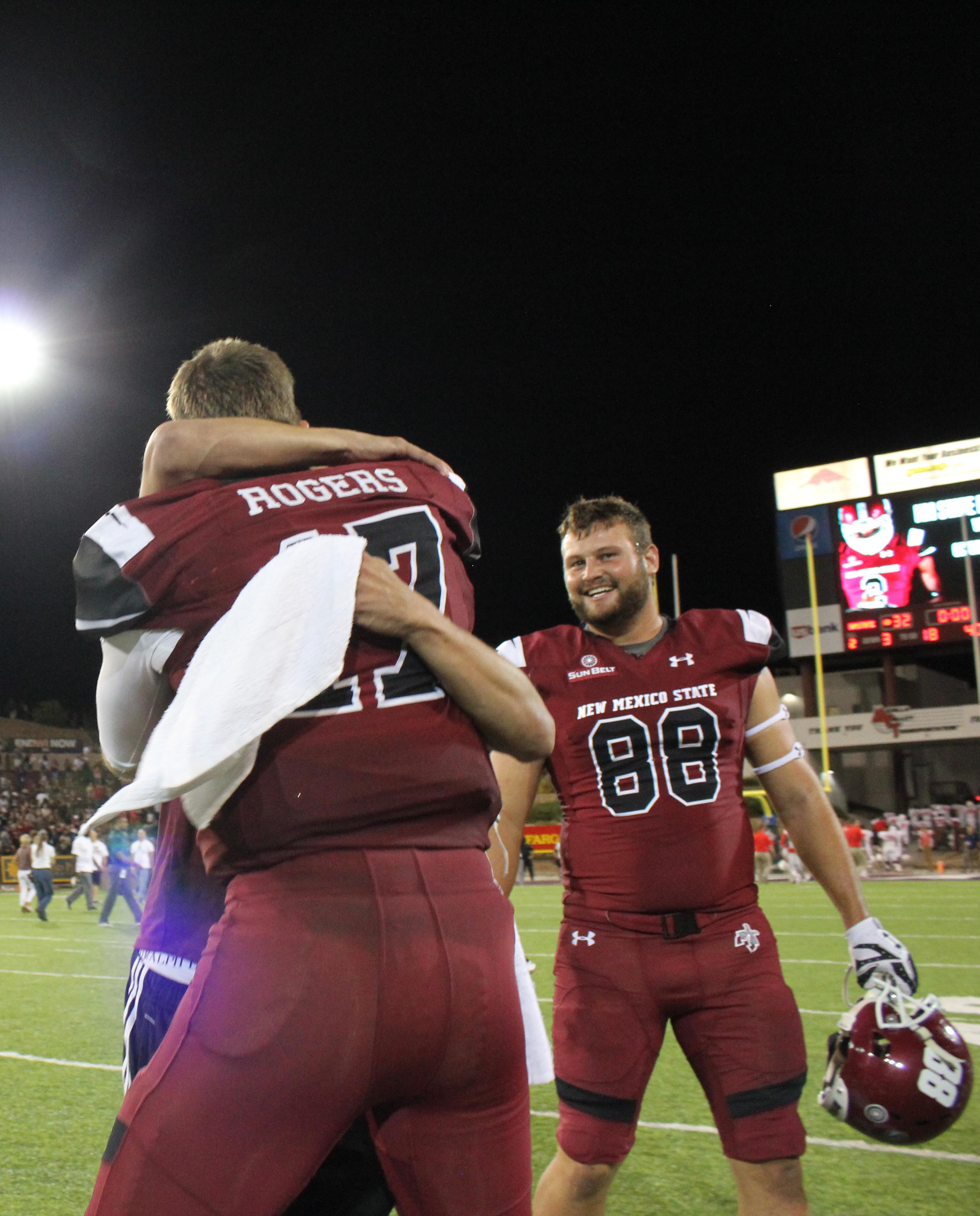 NMSU defeated UNM 30-28 Saturday night in Albuquerque.