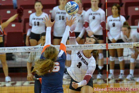 Jordan Abalos helping keep NMSU volleyball as the class of the WAC