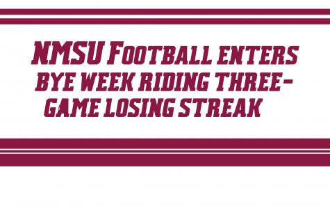NMSU Football Enters Bye Week Riding Three-Game Losing Streak