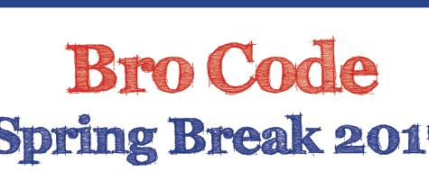 Bro Code Spring Break 2017