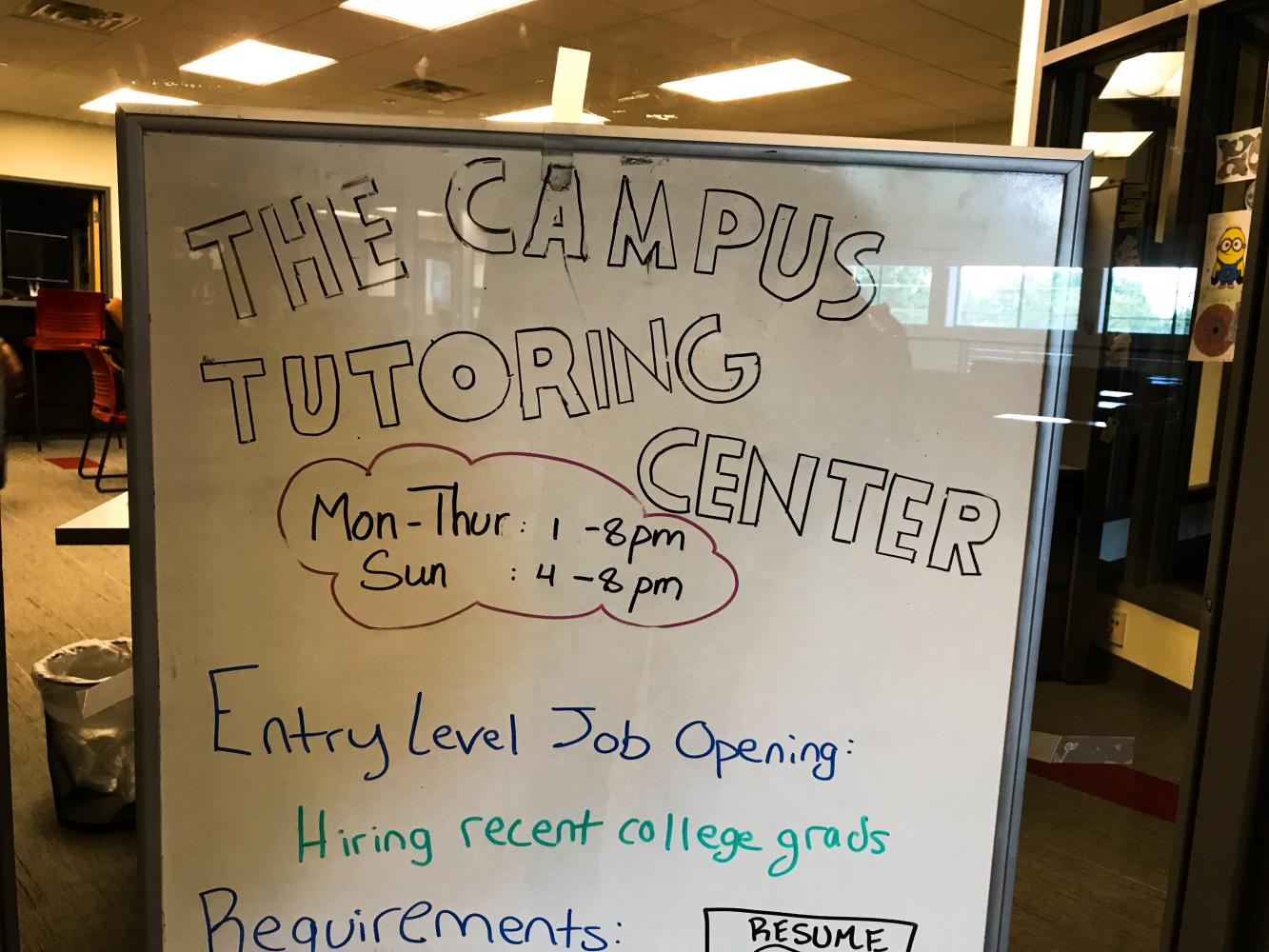 The Campus Tutoring Center located on the Second Floor of Corbett.