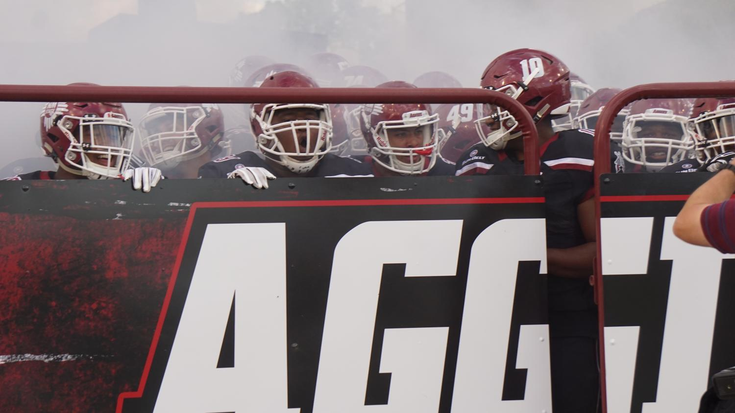 New Mexico State allows 318 rushing yards on 9.9 yards per carry in their 62-10 loss to Alabama.