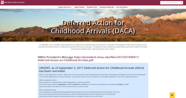 NMSU Chicano Programs new DACA website.