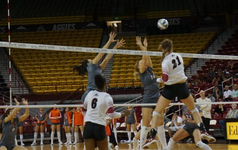 NMSU Volleyball stays hot with win over UT Rio Grande Valley