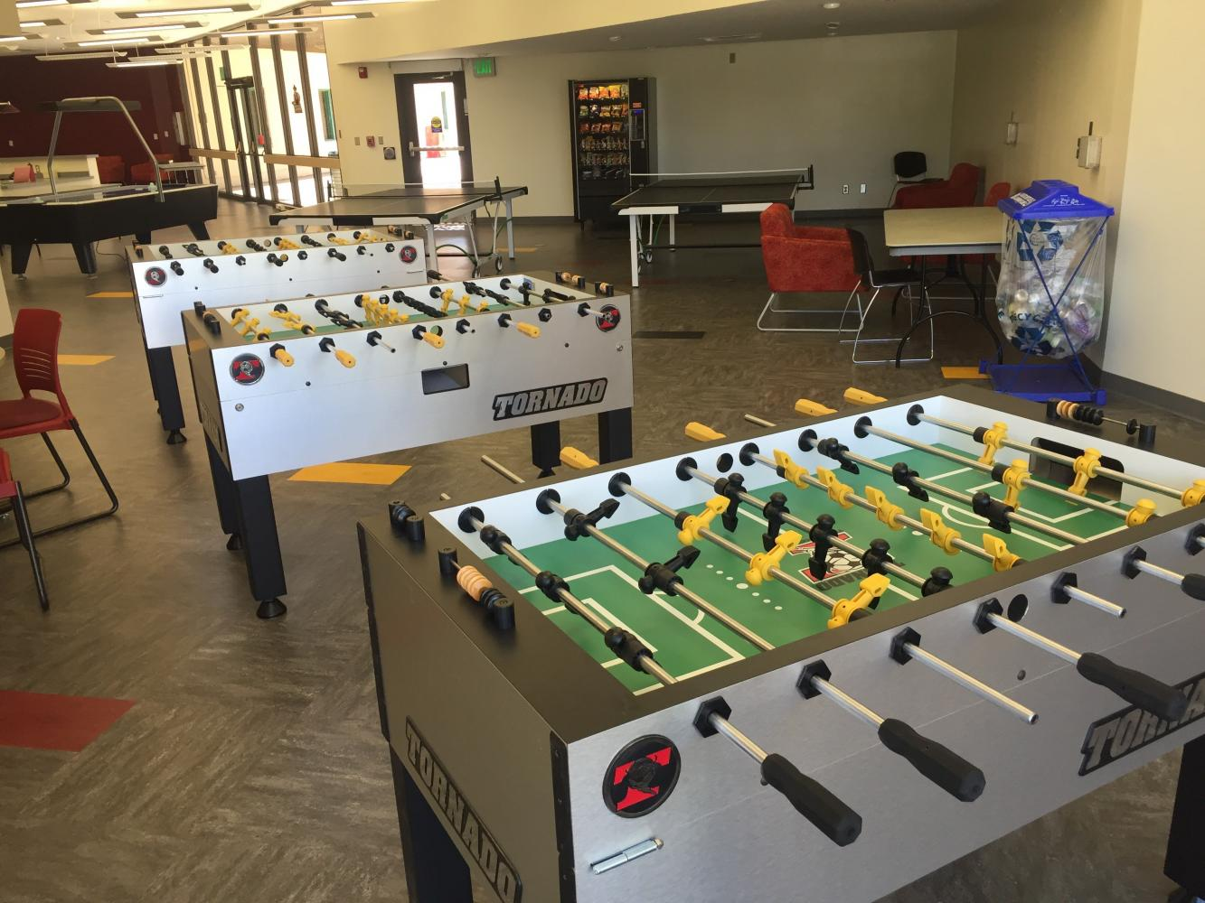 The newly renovated Corbett Center game room provides NMSU students the chance to enjoy games and meet new people. Photo courtesy of CCSU.