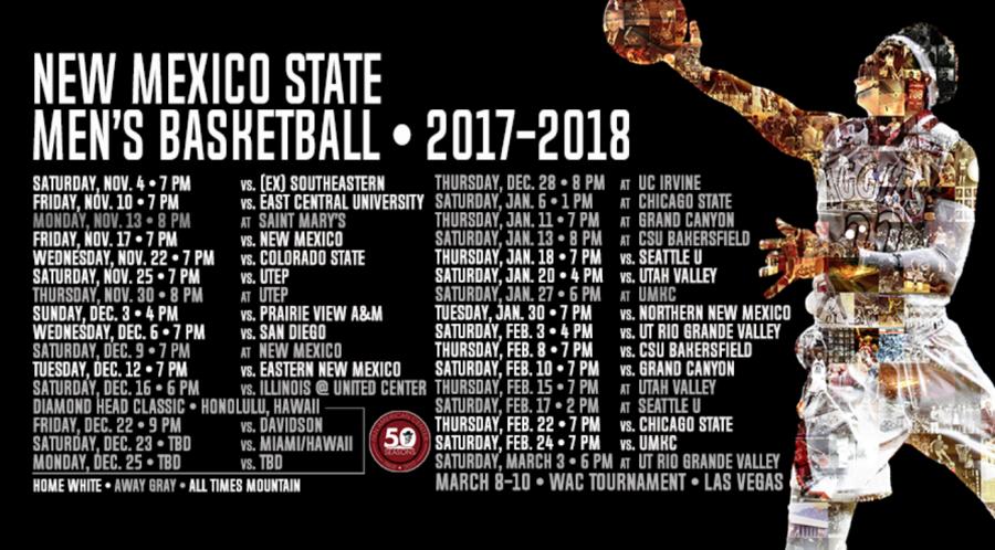 Men's Basketball schedule reveals difficult first month
