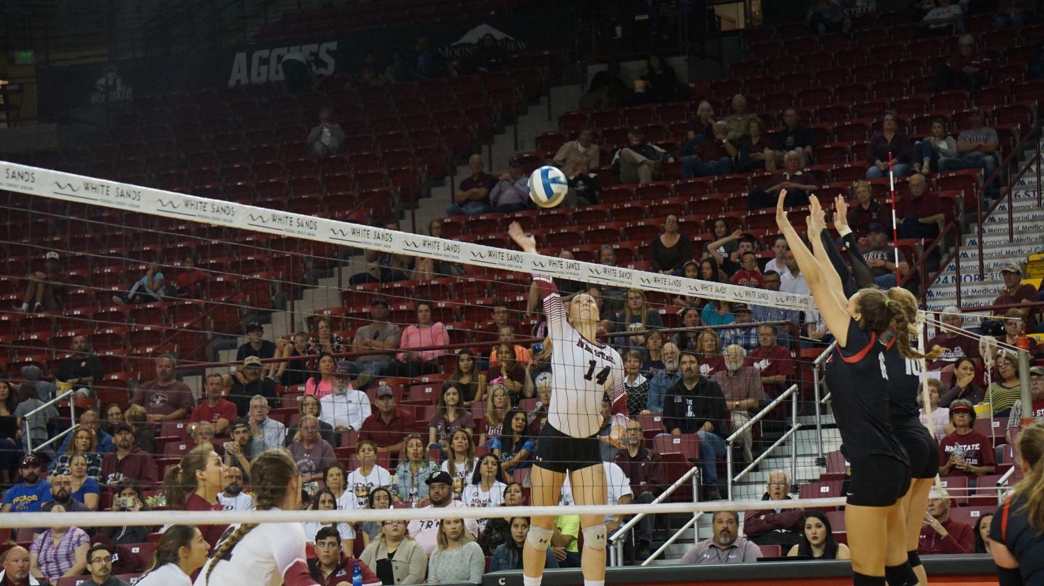 The Aggies defeated Seattle U and improved their winning streak to eight matches in a row.