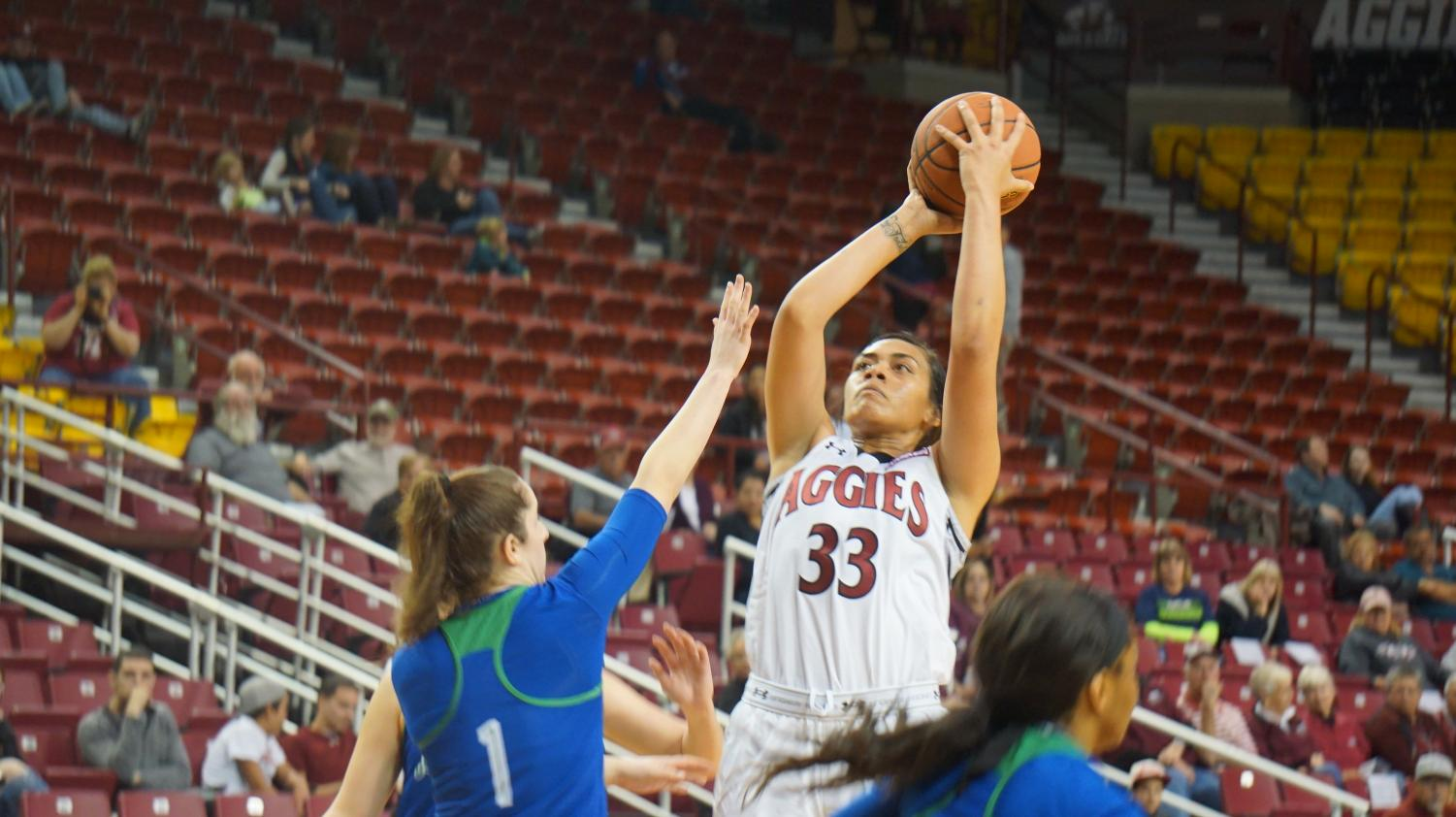 Jeneva Toilolo and the Aggies improve to 2-2 on the year with the win over Texas A&M - Corpus Christi.