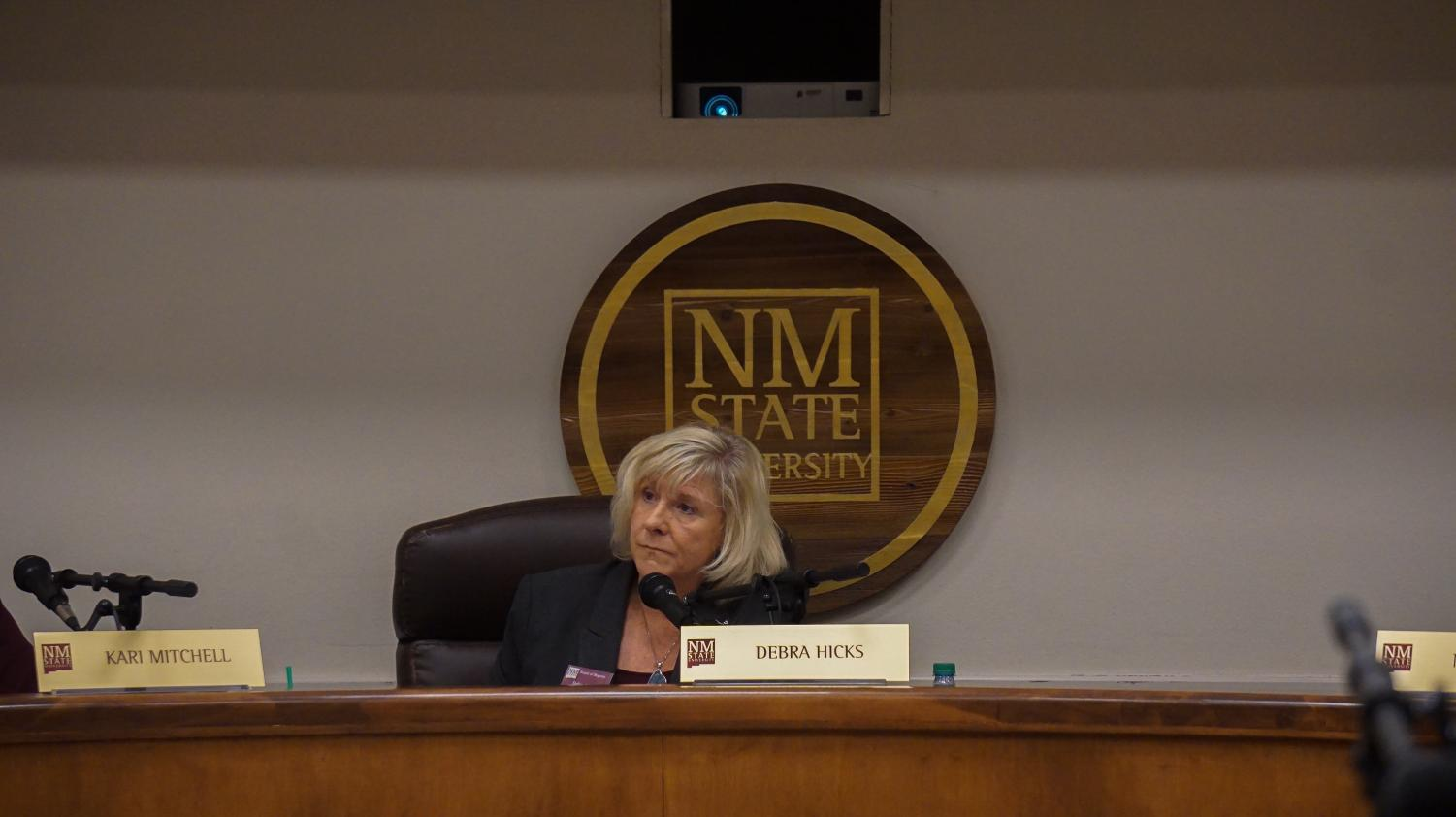 Madame Chair Debra Hicks during the Board of Regents meeting that took place on November 8.