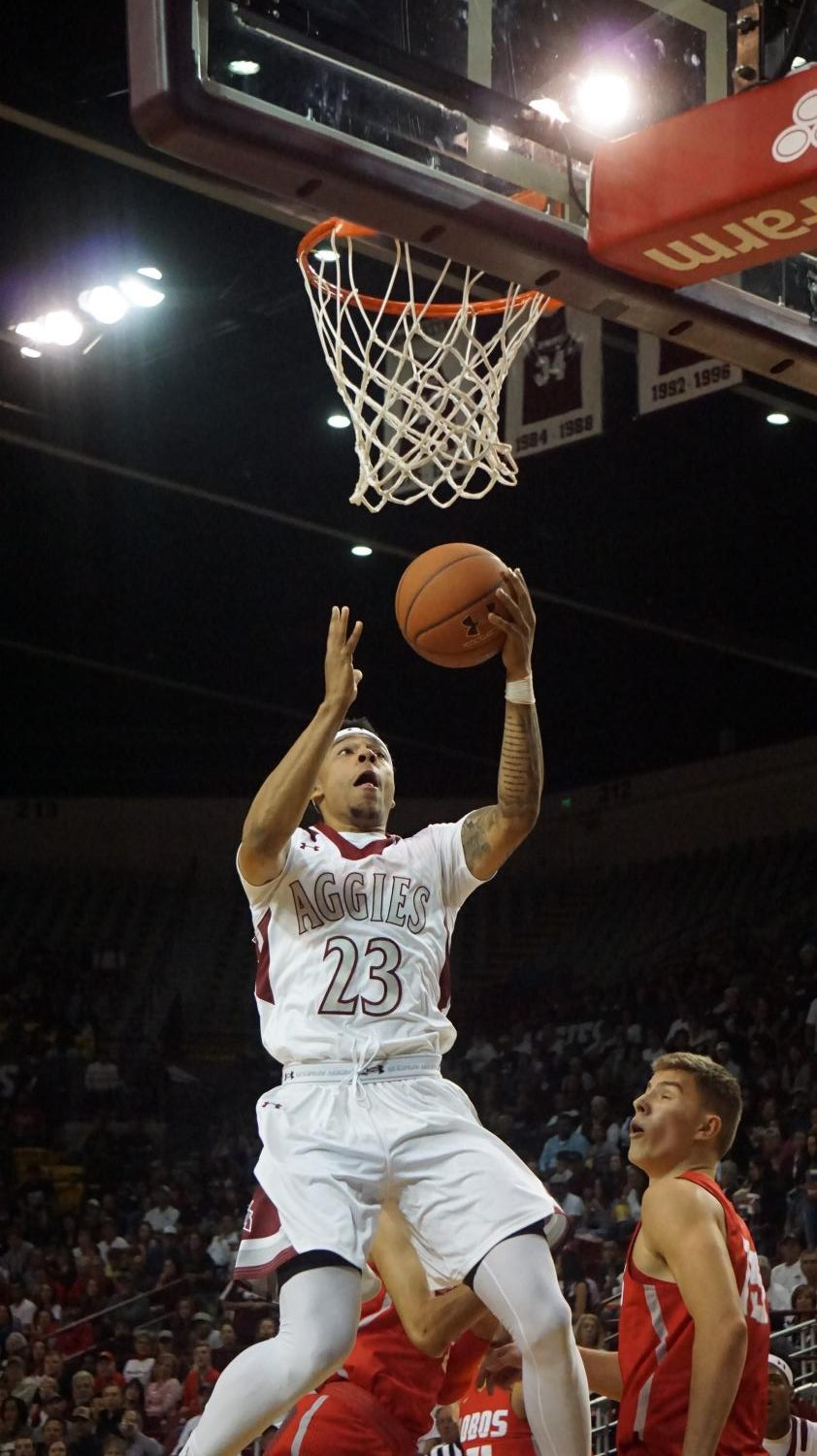 Zach Lofton led NMSU to a win over No. 6 Miami.