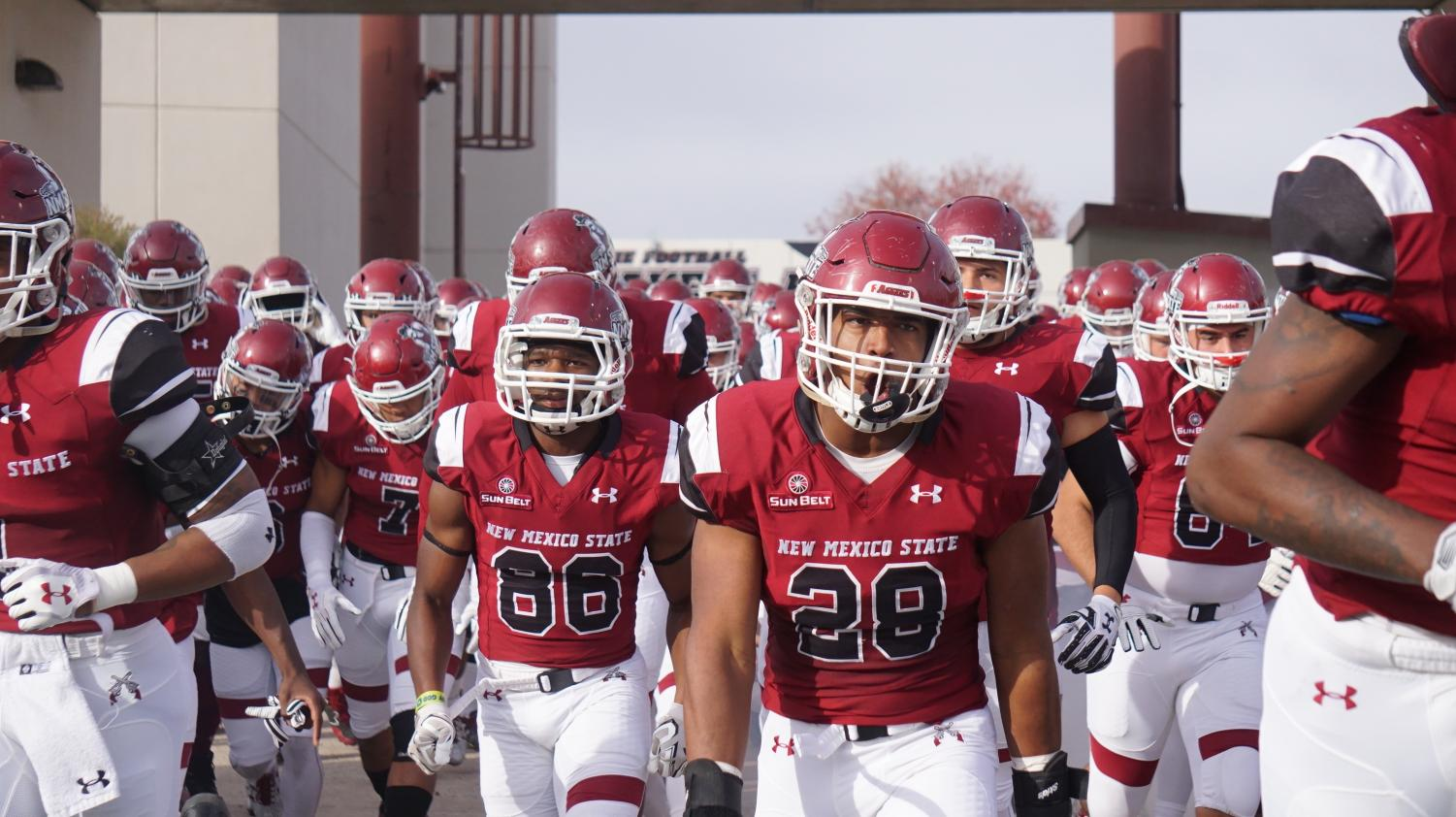 The New Mexico State Aggies football team.