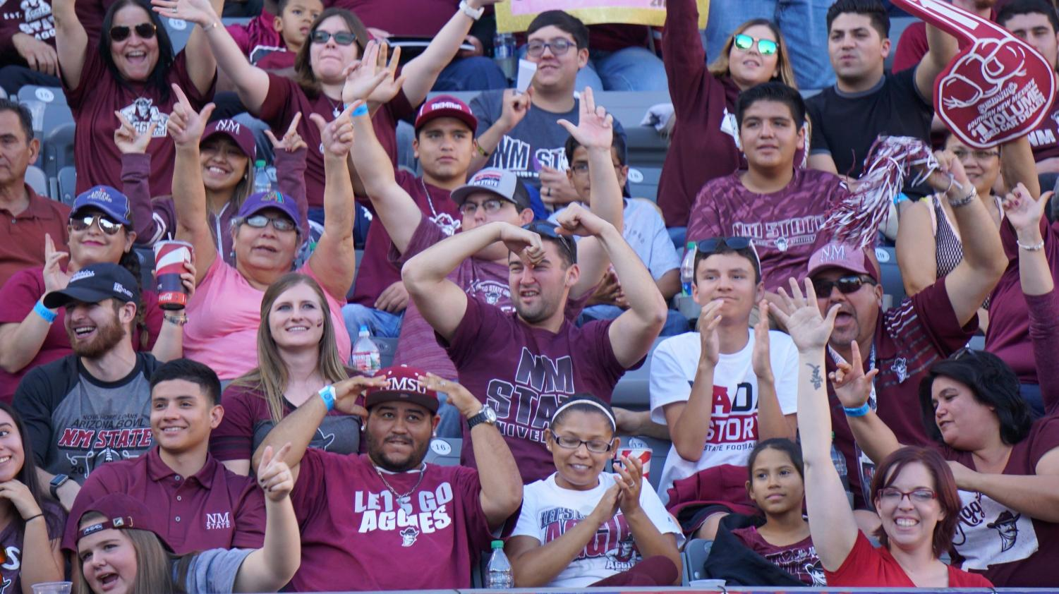 The NM State crowd will return Saturday during the football season opener to be broadcasted on ESPN 2.