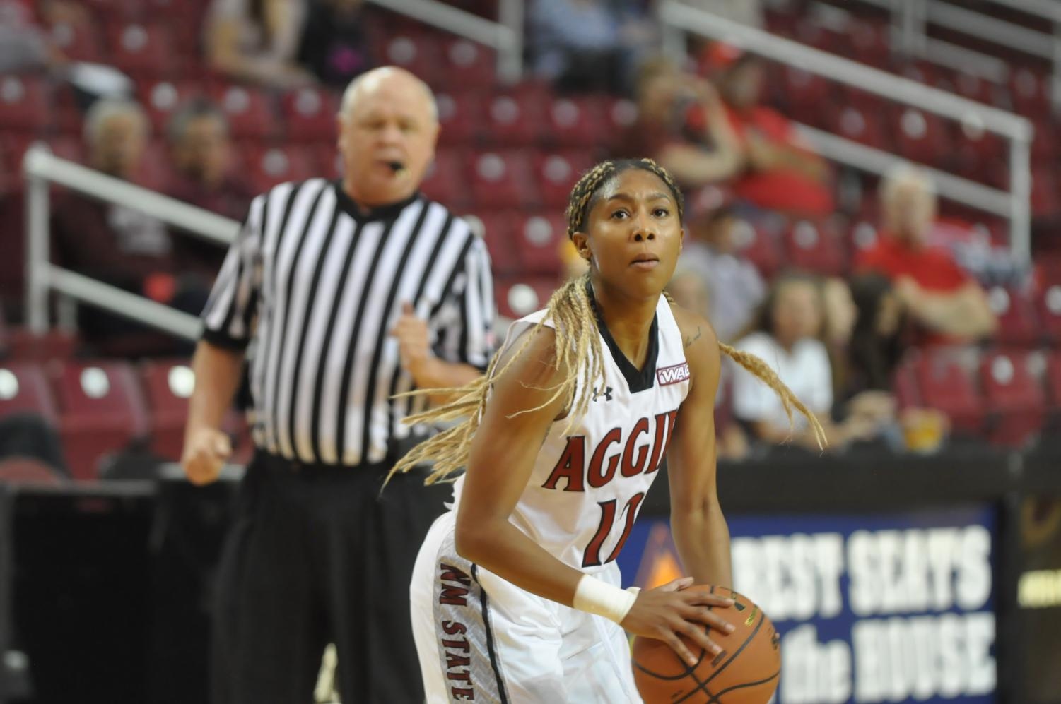 Zaire+Williams+and+the+Aggies+win+their+third+game+in+a+row+and+continue+a+hot+start+in+conference+play.