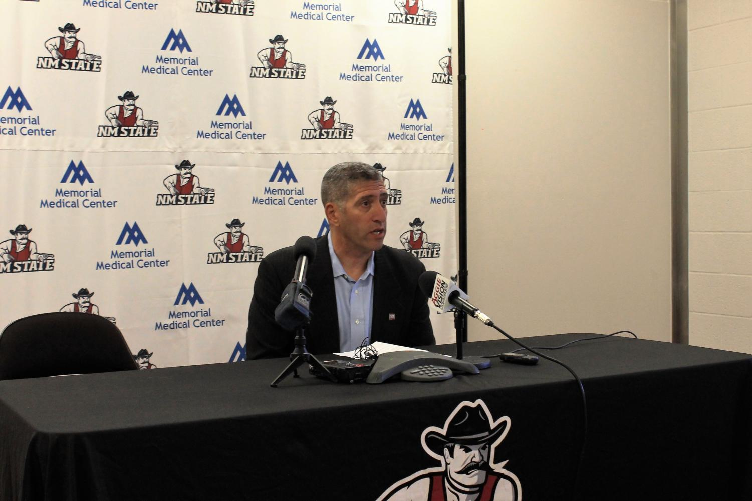 Director of Athletics Mario Moccia has signed three NMSU program head coaches to new deals in the last 10 days.
