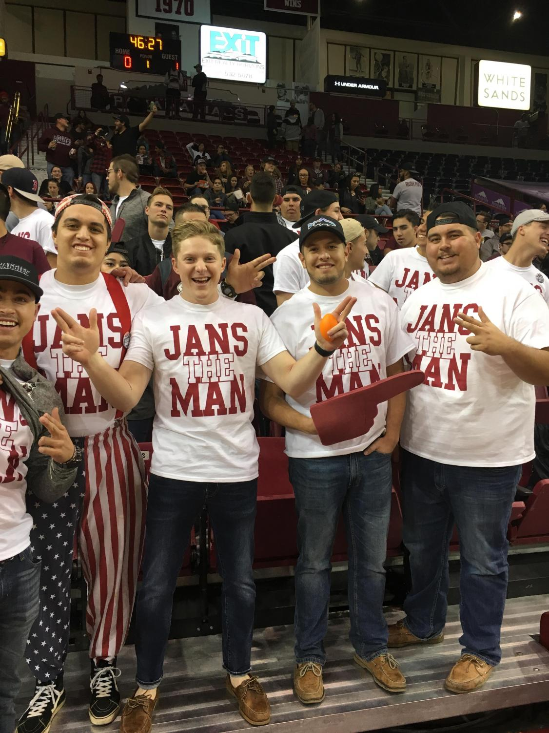 NMSU students sport the new
