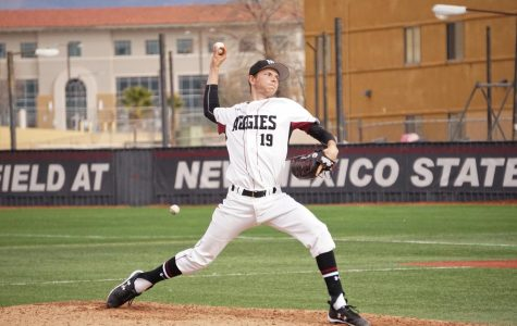 New Mexico State Baseball continues to be aggressive at the plate; wins both games against Maine