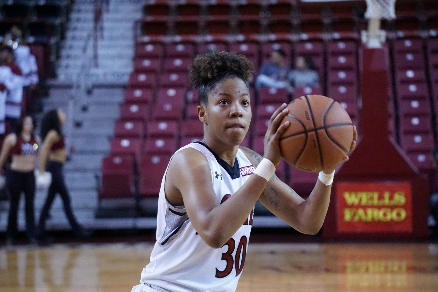 Gia Pack kicks off the WAC Tournament with an efficient 29 point performance in NMSU's decisive win over Chicago State.