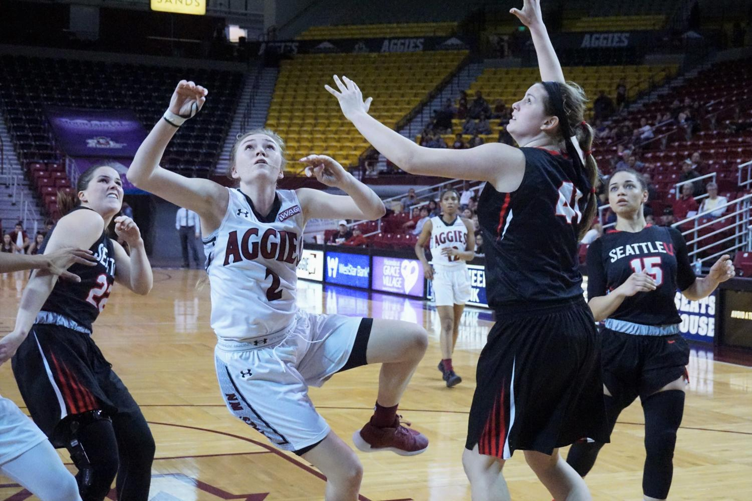 Reigning WAC Player of the Year Brooke Salas and the Aggies kick their season off Tuesday against UT Permian Basin.