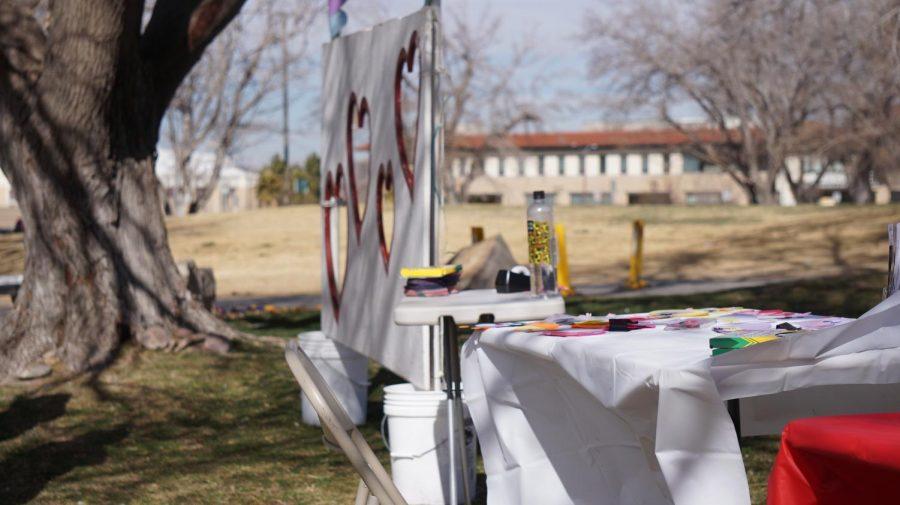 W.A.V.E booth set up outside the Corbett center.
