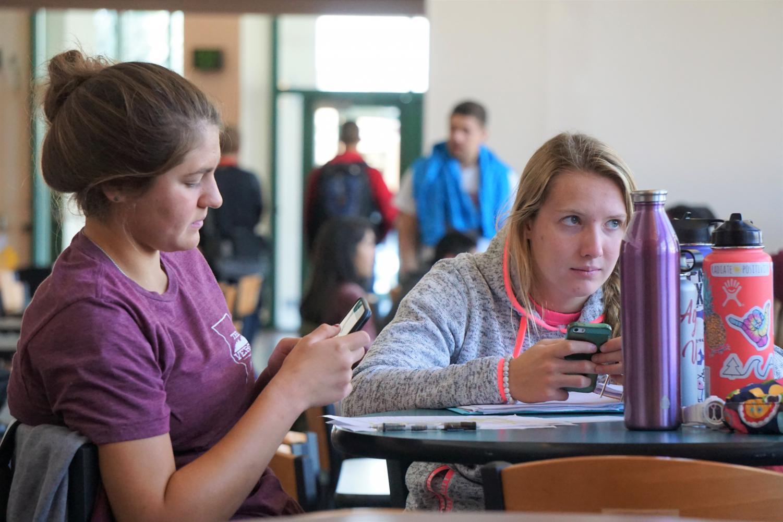 Students in the Corbett Center