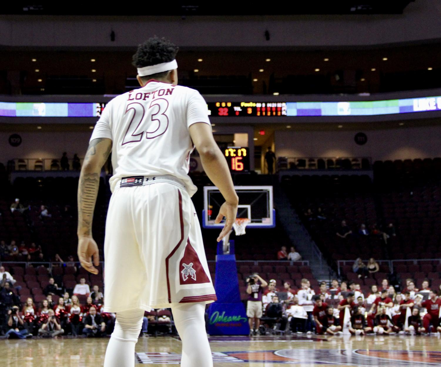 NMSU guard Zach Lofton finished the WAC semifinal game with 31 points; his team will now head to the WAC Championship.
