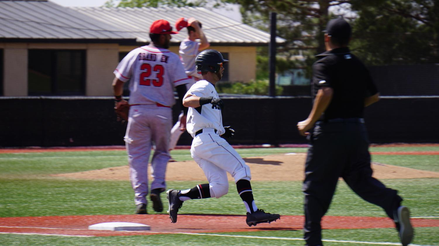 New Mexico State defeated the University of New Mexico Lobos for the second time this season by a final score of 13-2.