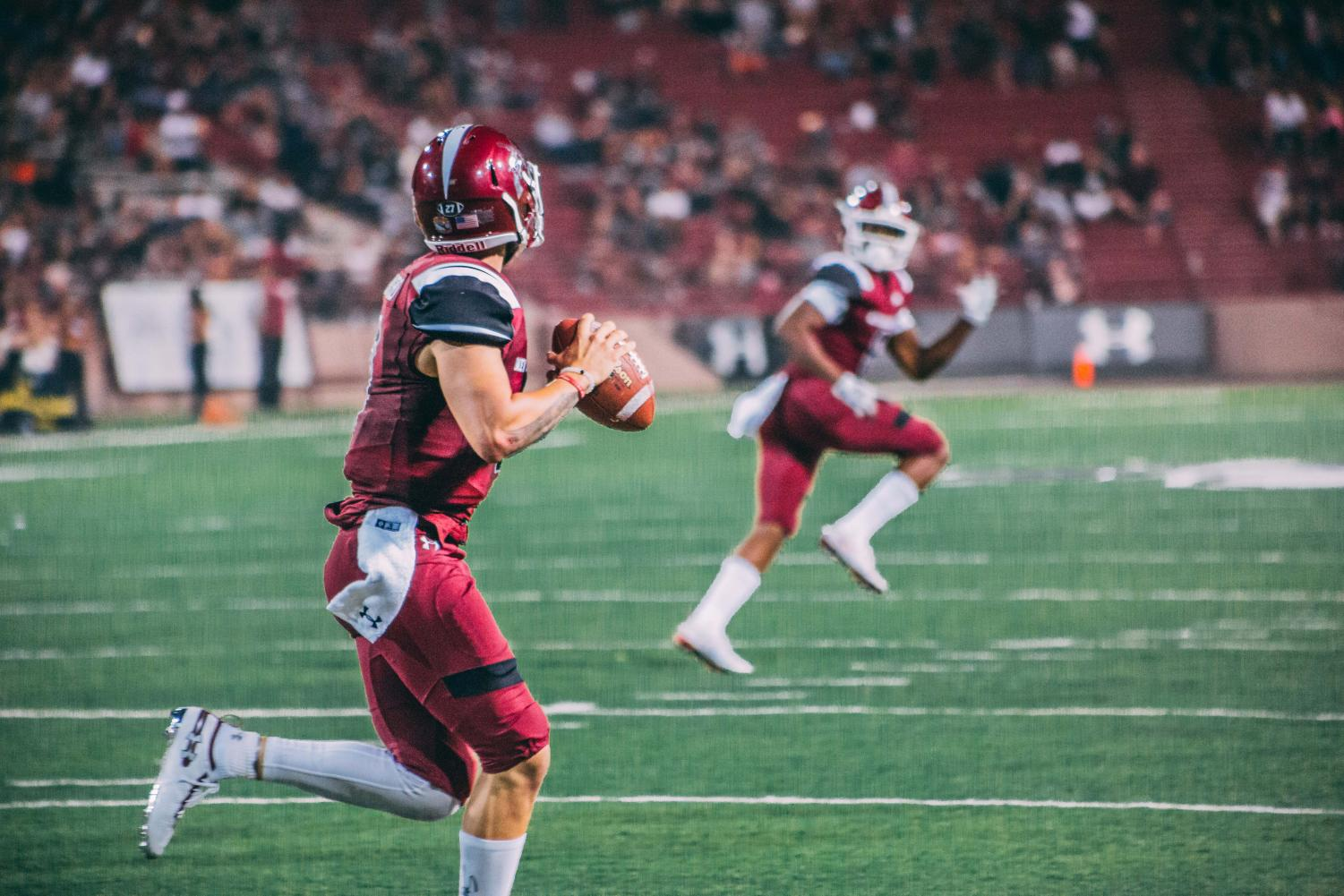 New Mexico State's offense looks to continue its improvement against Utah State this Saturday.