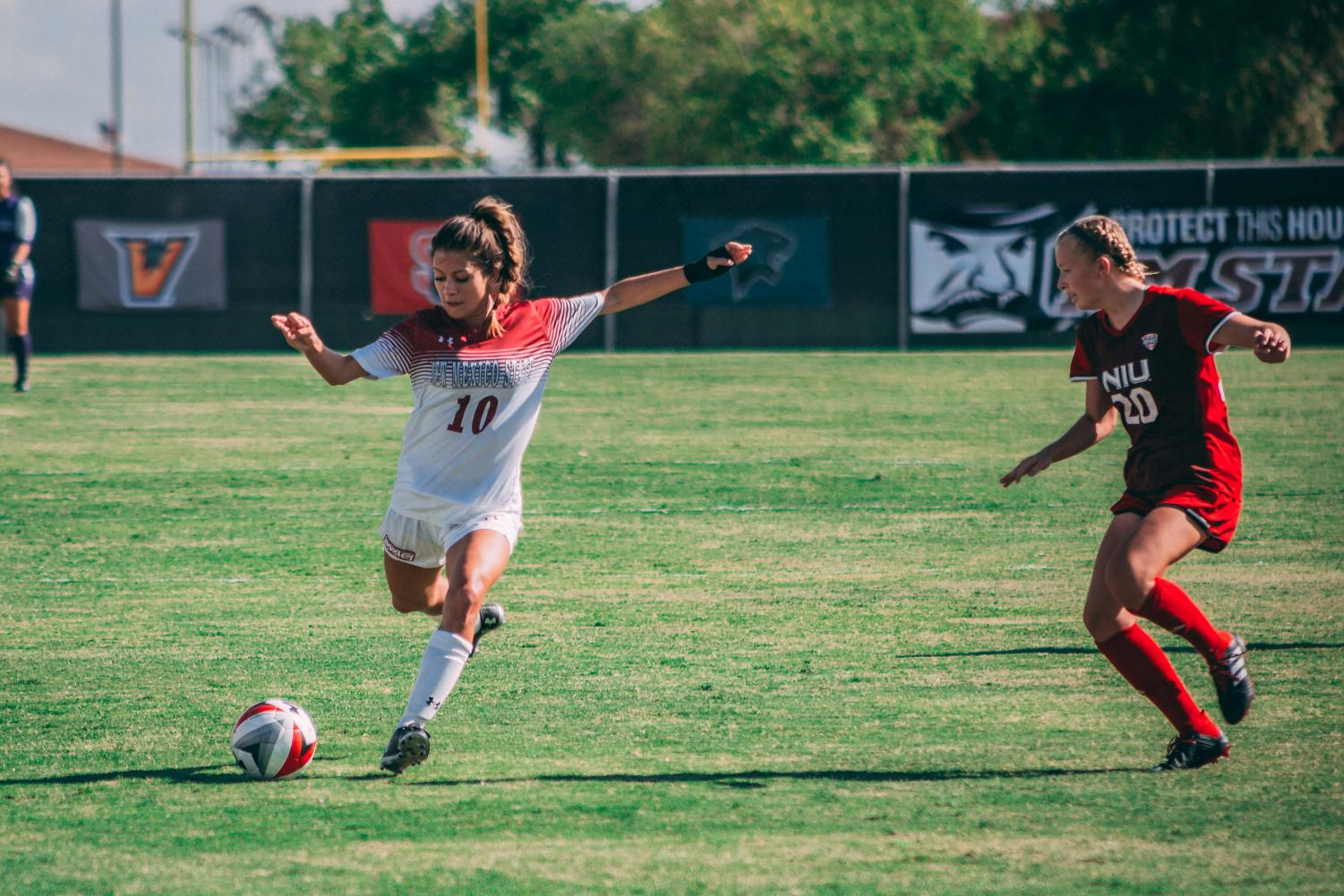Aileen Galicia's 89' strike to send the game into extra time wasn't enough to pull a result for the Aggies, who drop their sixth game in seven outings.