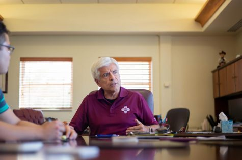 "NMSU Chancellor Dan Arvizu has a ""theory of change"" to put the university back on track."