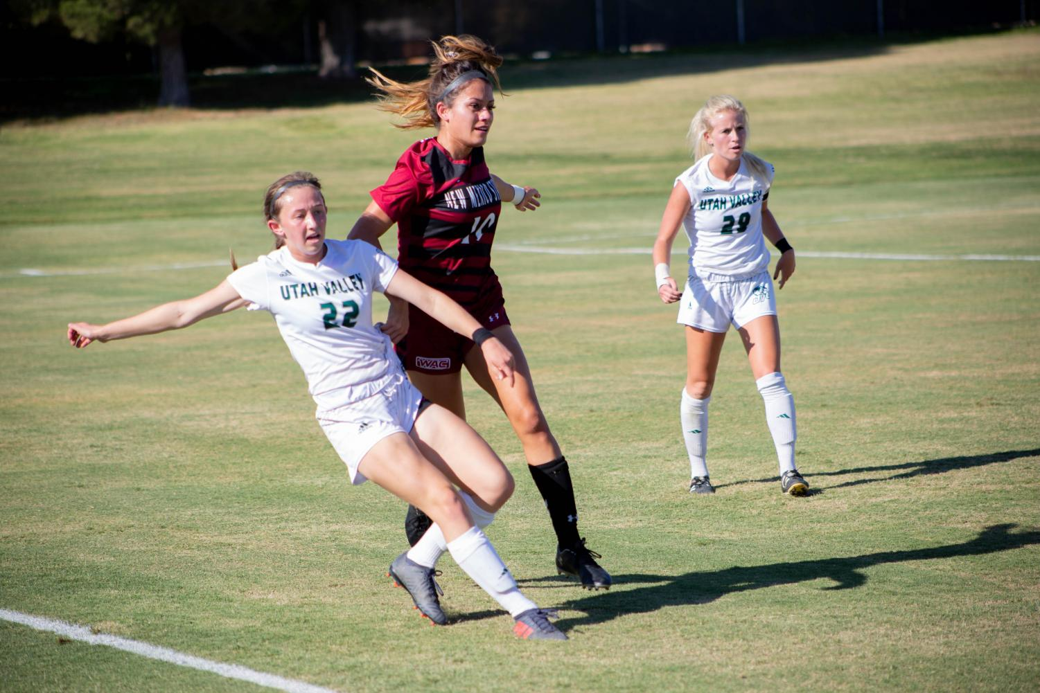 The New Mexico State women's soccer team couldn't score a goal in their conference opening loss at home Friday afternoon.