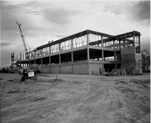 Construction+taking+place+of+O%27Donnell+Hall+in+1968.