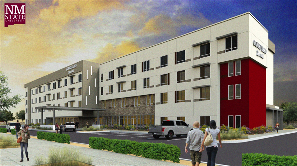 A new Courtyard Marriott hotel will aid NMSU HRTM students and is set to open in March of 2019. Photo courtesy of Allen Sigmon real estate group.