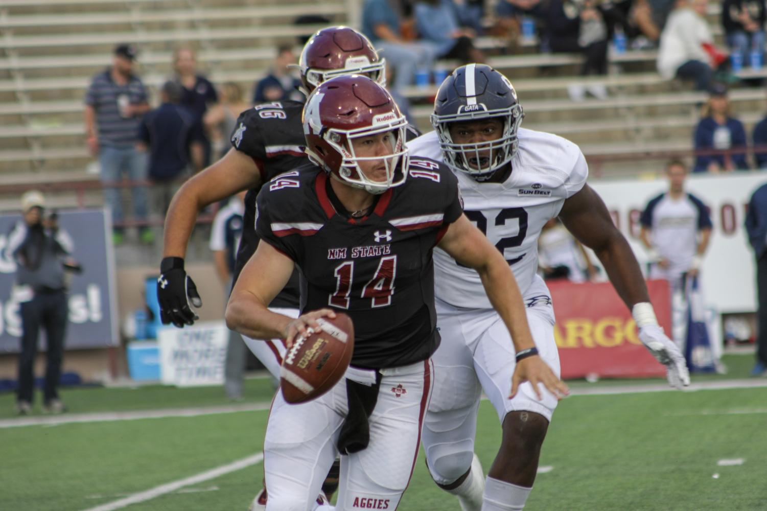 Redshirt-freshman Josh Adkins' growth at the quarterback position gives head coach Doug Martin stability at the position for the forseeable future.