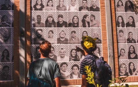 Art project pastes students on campus