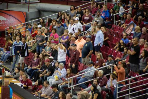 New Mexico State volleyball falls at home for first time of the season against UTRGV