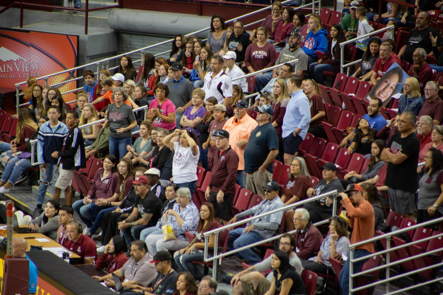 The New Mexico State volleyball team loses in five sets to UTRGV despite the program's first