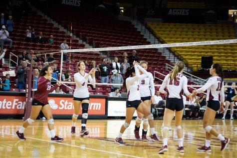 New Mexico State enters the back half of the conference season with a perfect 8-0 WAC record.