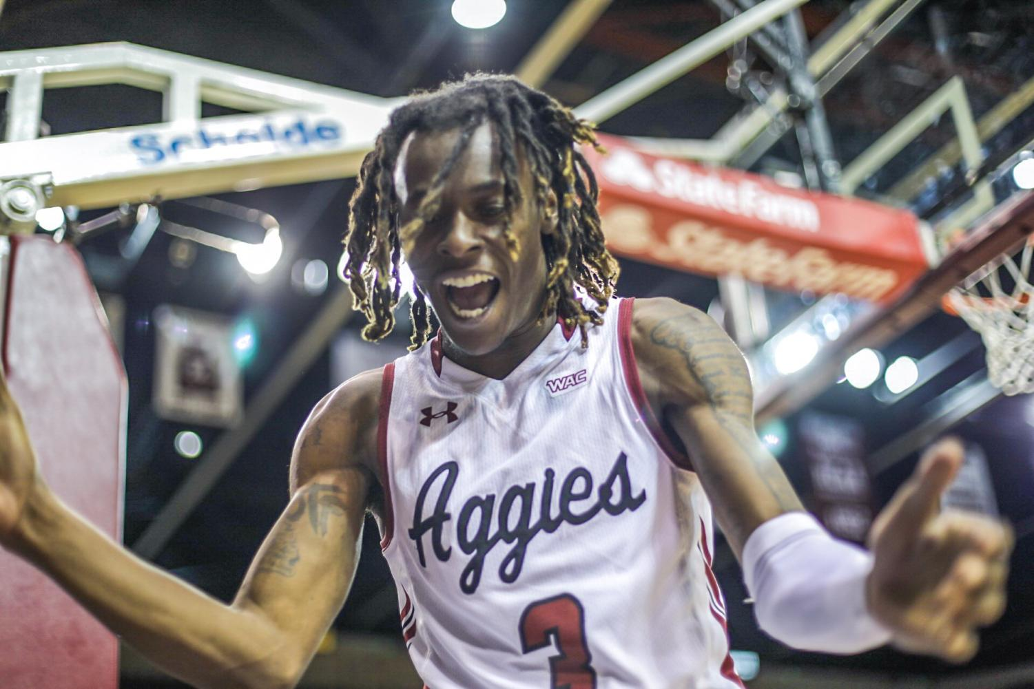 New Mexico State escapes with a 59-53 win over the second-to-last place Seattle Redhawks, positioning themselves one game away from clinching the WAC.