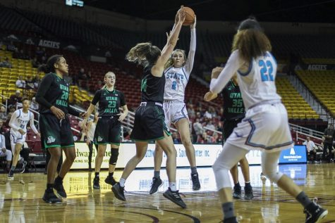 Aggie women take down UVU in gritty battle for top spot in the WAC