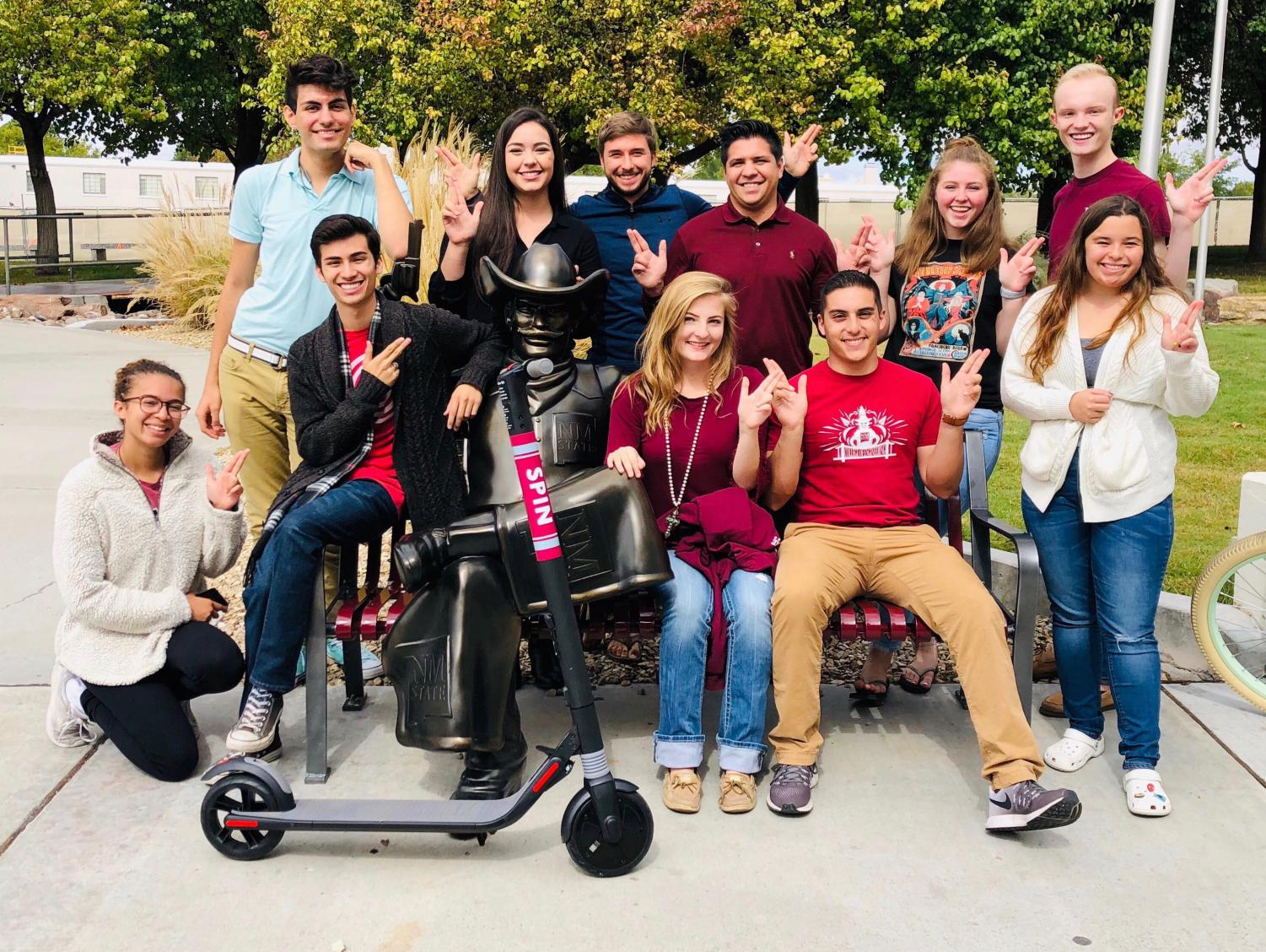 The electric scooters will provide an easy way to students to get around campus.