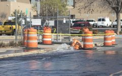Routine drainage to NMSU's Stewart Street sparks wet roadways