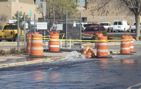 Routine drainage to NMSU's Stewart Street sparks wet roadways