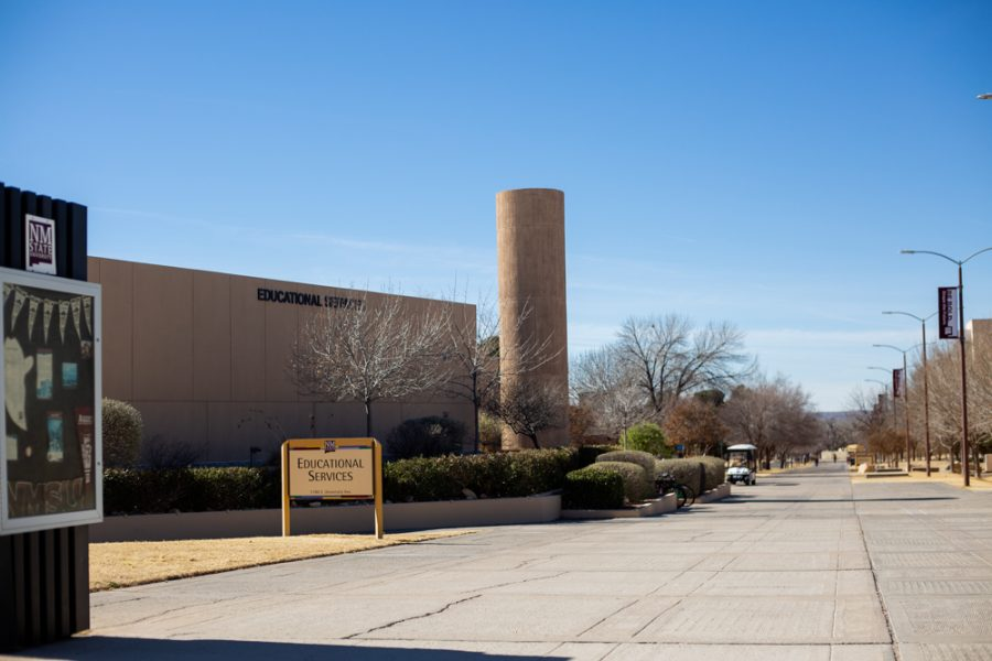 The educational services building houses the financial aid office and university accounts receivable at NMSU.