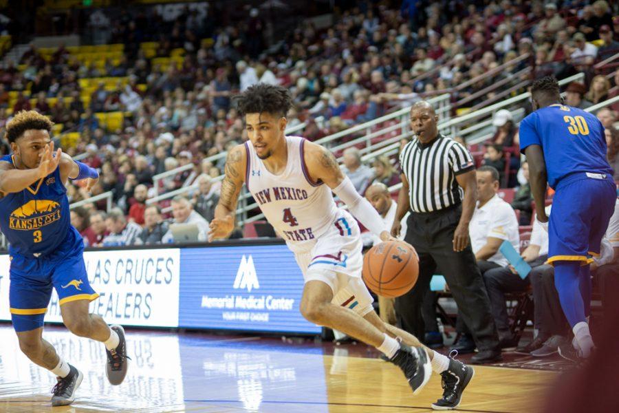 NMSU basketball takes on UMKC: Photo gallery