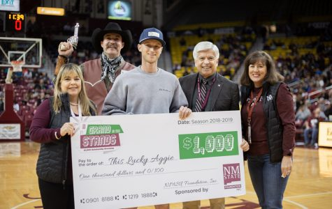 "NMSU athletics' ""Grand in the Stands"" promotion positively impacting winners' lives"