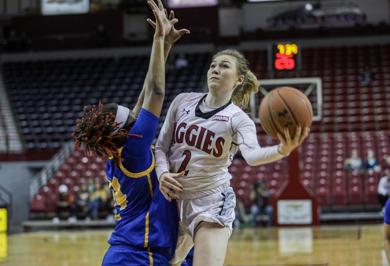 Brooke Salas leads NM State into the NCAA Tournament as the Aggies are set to take on No. 3 Iowa State.