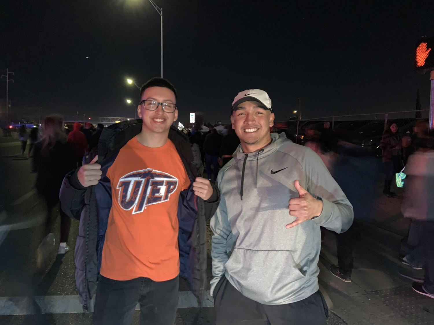 Alex Vasquez and Luis Estrada are UTEP students who made it in to the Trump Rally. They were escorted out