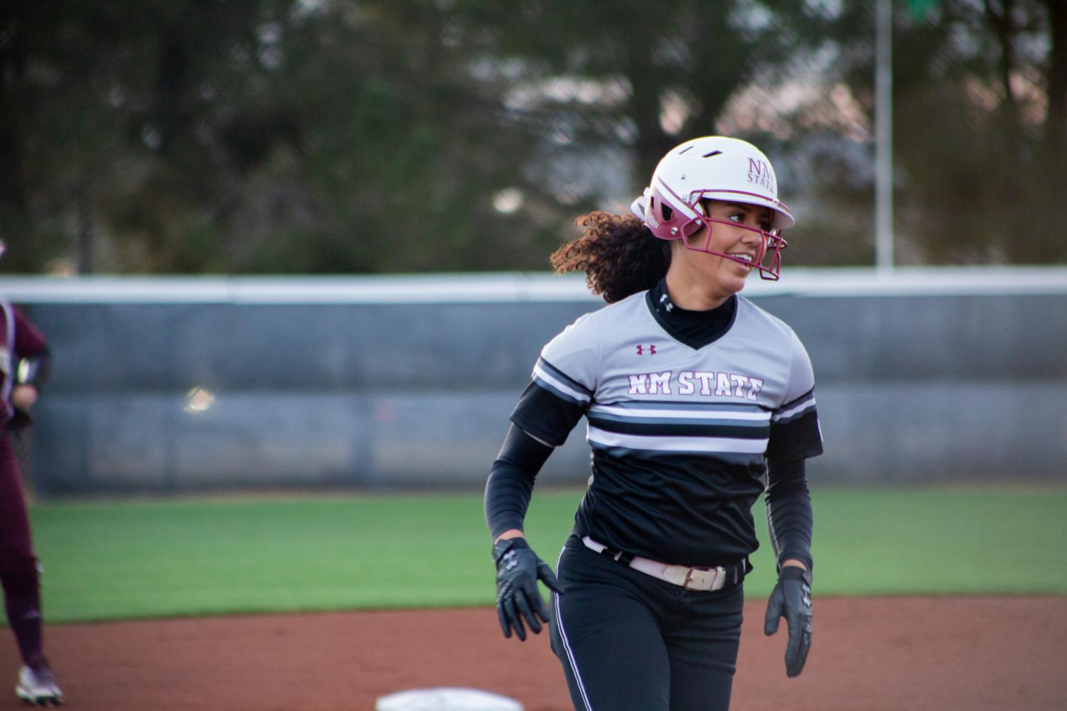 After continuing their offensive excellence vs. Texas State, the Aggies come up short for the first time this season against Bradley, scoring just three runs in the back half of the late-night doubleheader.