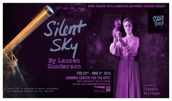 NMSU production 'Silent Sky' will take the stage Friday, Feb. 22.